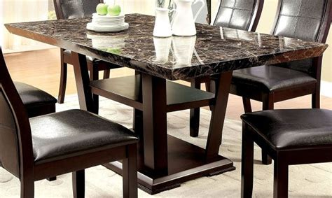 Dining Table With Marble Top Versus Wood Dining Table Marble And Wood Dining Table