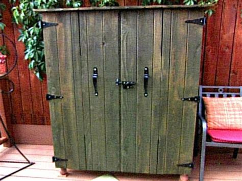 build an outdoor tv cabinet hgtv