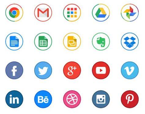 imagenes de redes sociales logos paquetes gratuitos de iconos de redes sociales para tus