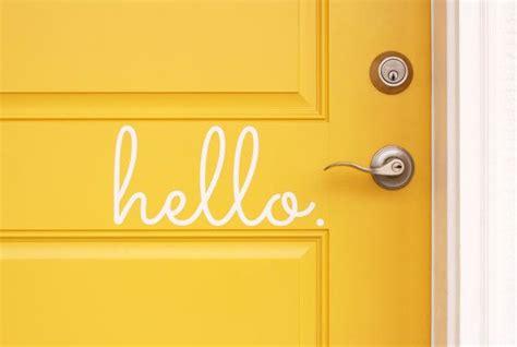 Hello Home hello vinyl door decal hello front door decals hello