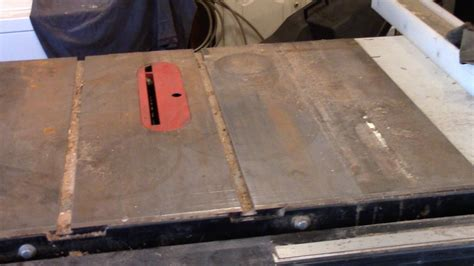 remove rust from table saw how to remove rust from a cast iron tablesaw