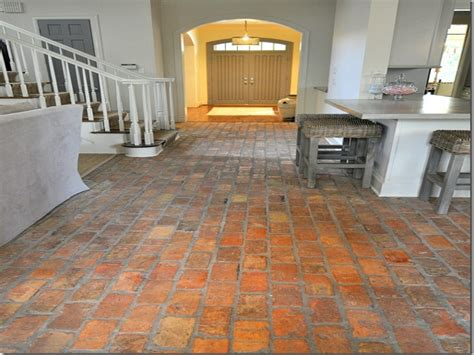 Brick Kitchen Floor Kitchen Brick Floor Wood Floors