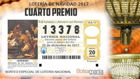 cuarto premio loteria navidad en directo sorteo de la loter 237 a de navidad 2017