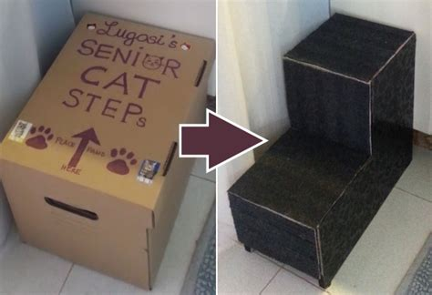 cat stairs for bed catster diy how to make steps for your senior cat catster