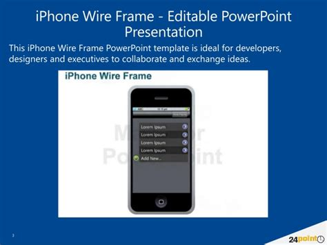 iphone wire frame powerpoint template