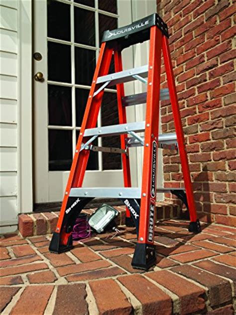 two step step stool 4202 louisville ladder fs1412hd 375 pound duty rating