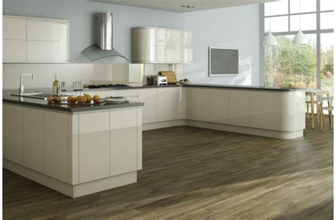 Kitchen Cabinets No Handles Lucerne Ivory High Gloss Kyme Kitchens