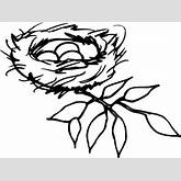 Nest Outline Clip Art at Clker.com - vector clip art online, royalty ...