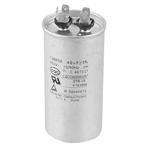 capacitor to filter 60 hz toogoo r cbb65a 450v ac 50 60hz 40uf 5 electric motor start run capacitor in the uae