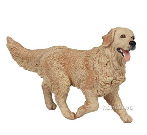 golden retriever figurines papo 54014 golden retriever canine animal replica figurine nip ebay