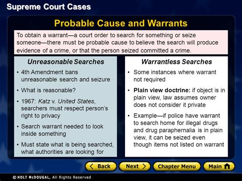 A Search Warrant Must State Chapter 13 Supreme Court Cases Ppt