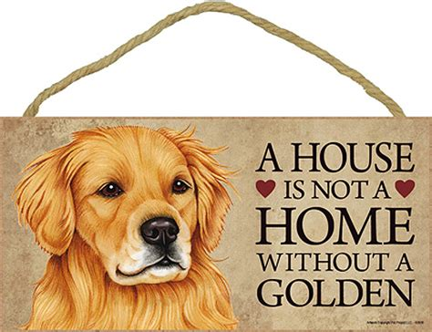 best house for golden retriever golden retriever wood sign wall plaque photo display a house is not a home 5