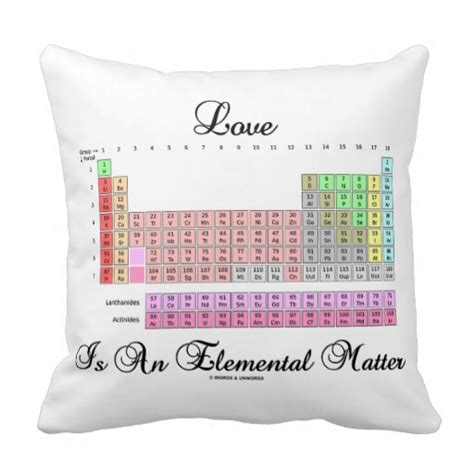 Table Pillows by Is An Elemental Matter Periodic Table Pillow