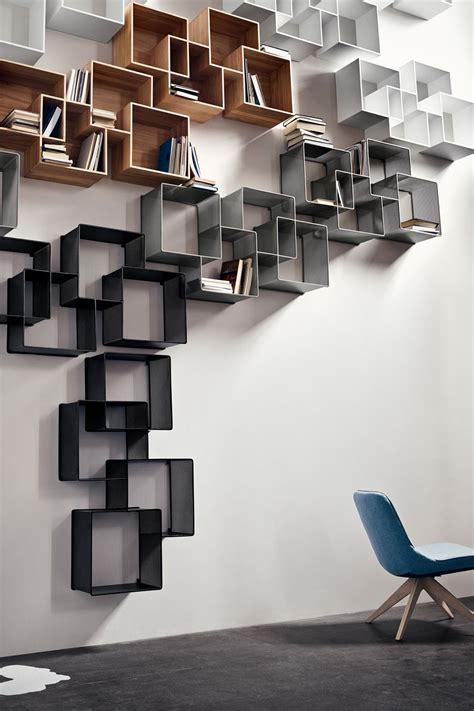 libreria da parete quadro libreria modulare da parete in legno