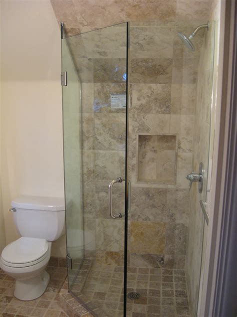 Angled Shower Door Glass Frameless Neo Angle Shower Doors In Portland Or Esp Supply Inc Mirror And Glass