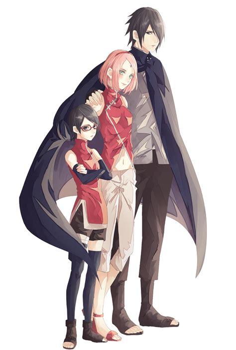 sarada sasuke uchiha and sakura family naruto uchiha sasuke haruno sakura uchiha sarada
