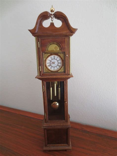 Handmade Grandfather Clock - grandfather clocks dollhouses and miniature on