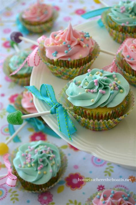 Baby Shower Cupcake Rattles by Baby Rattle Cupcakes Recipe Dishmaps