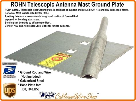 rohn telescoping antenna mast base plate  star incorporated