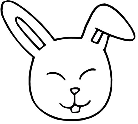 rabbit head coloring page bunny face clipart best