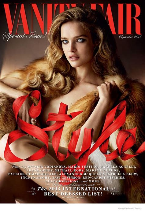 vodianova stuns in vanity fair september 2014 by
