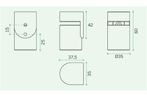 Door Stop Dimensions by Magnetic Door Stop Heavy Duty Zanda Architectural Hardware