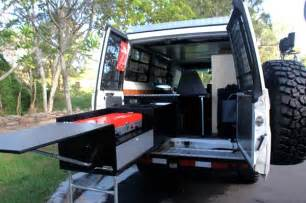 Slide Out Kitchen Cabinets vehicle aussie overlanders aussie overlanders