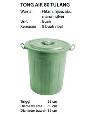 Ember Lipat Biru 10 Liter jual tong air 80liter harga murah jakarta oleh pt asia pratama