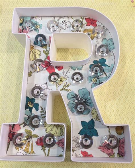 tutorial letras scrapbook mini tutorial decora tus letras luminosas cute crafts