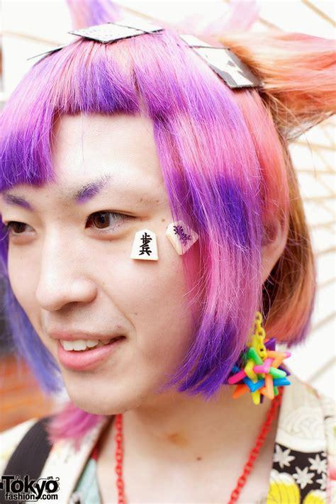 old japanese ladies purple hair japan harajuku hair style