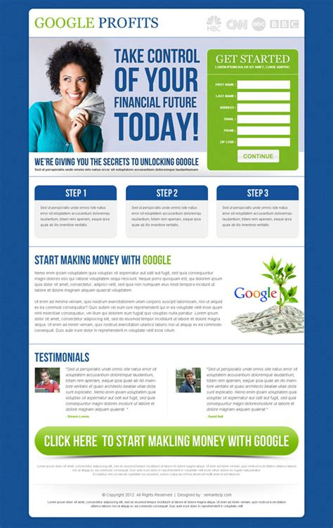Best Landing Page Designs 2013 To Capture Leads Conversion Landing Page Sle Templates