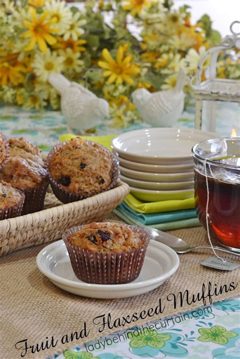 fruit muffins fruit and flaxseed muffins