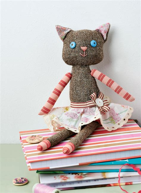 Cat Doll by Tweed Cat Doll Free Sewing Patterns Sew Magazine