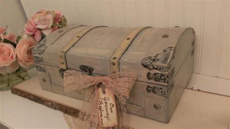 vintage wedding card box luggage card box shabby chic