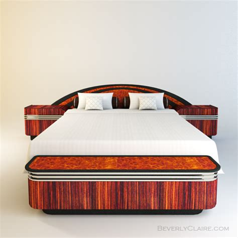 art bedding art deco bed with nightstands storage chest beverly claire interiors beverly