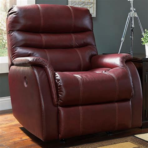 ashley leather recliner ashley signature design bridger 3930198 contemporary