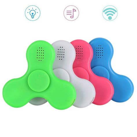Spinner Bluetooth Musik ecubee bluetooth spinner chargeable led fidget spinner finger focus reduce stress