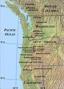 cascade mountains on map my