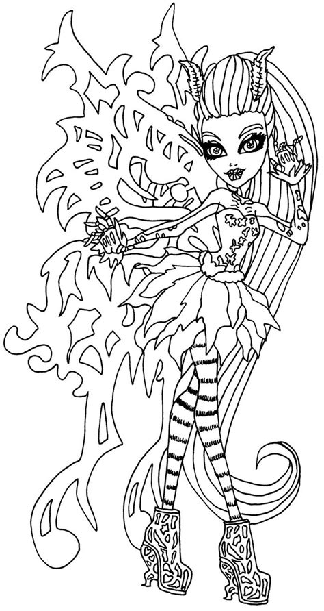 monster high coloring pages pinterest monster high coloring pages bonita femur google search