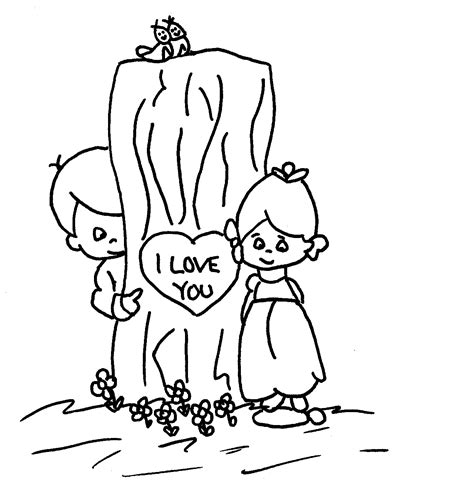 coloring page about love people in love drawing coloring pages
