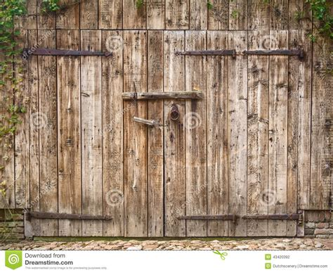 weathered barn door stock photo image  lock