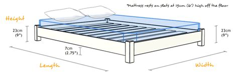 bed frame dimensions low platform bed