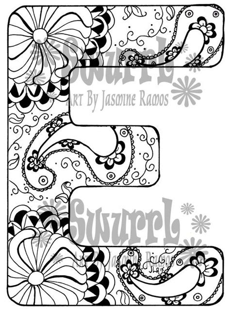 coloring pages for adults letter e 177 best images about swurrl on etsy on pinterest henna