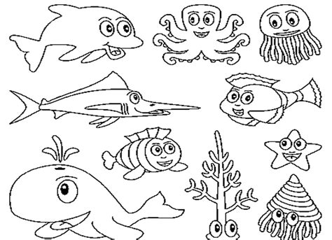 Sea Animals Coloring Pages For Kids Az Coloring Pages Az Coloring Pages Sea Animals