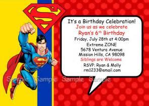 40th birthday ideas superman birthday invitation template