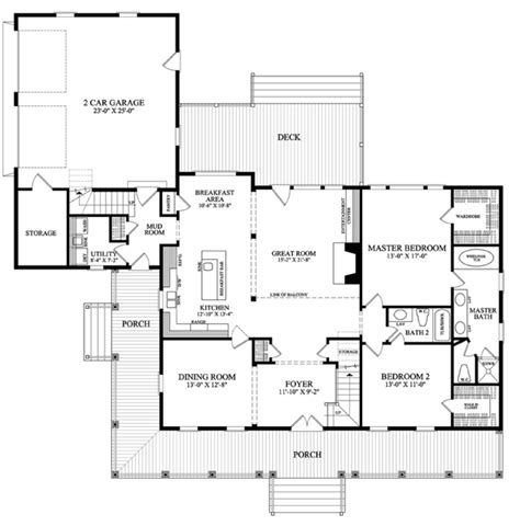floor plan of cottage country farmhouse traditional