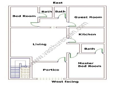 West Facing Vastu Plans Of Home Joy Studio Design West Facing House Vastu Plan