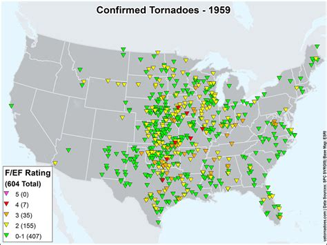 tornado map us tornadoes map1959 u s tornadoes