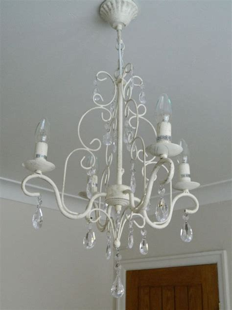 chandelier light fitting shabby vintage chic bedroom