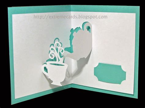 Disney Pop Up Card Template by Teapot And Cup Pop Up Card Printable For Paper Cutting